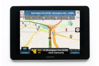 Copilot Live Premium HD Europe app / Samsung Galaxy Tab 10.1