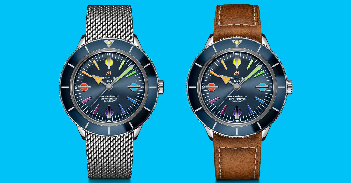 Breitling's rainbow Superocean raises money for health workers