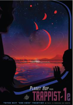 This poster imagines what a trip to TRAPPIST-1e might be like