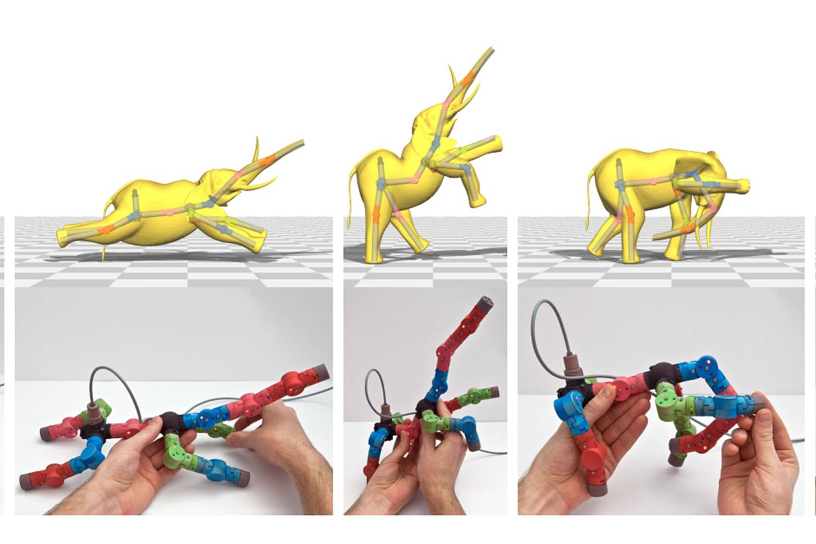 Animate Digital Creatures With This Pliable Modular Doll Wired Uk Series Circuit 3d Animated Model