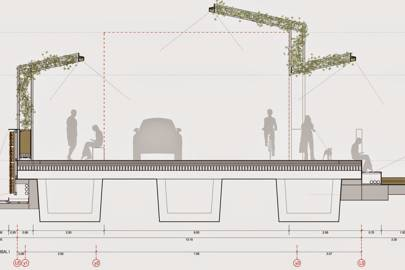A garden and pergolas will also be added to the bridge, making it more enjoyable for pedestrians
