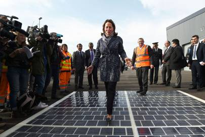 French Ecology Minister Segolene Royal wants to build over 1,000 km of solar roads in France over the next five years