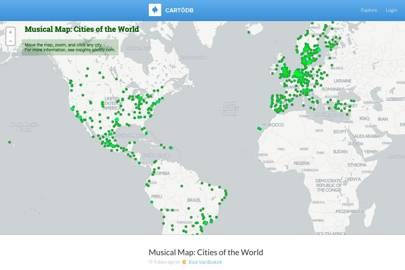 Spotifys musical map of the world hosts city specific playlists spotifys musical map of the world hosts city specific playlists gumiabroncs Images