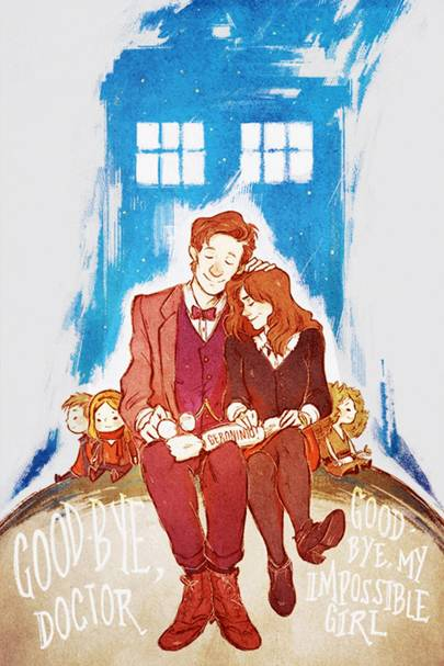 Tribute art like this is a mainstay of the Whovian fandom