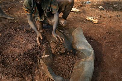 Cobalt mining in the Democratic Republic of Congo, shot in 2005 at the Ruashi mine about 20 kilometers outside Lubumbashi