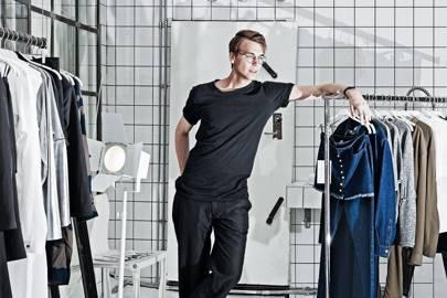 Carl Waldekranz in the studio of Tictail client, Ann-Sofie Back, in Stockholm