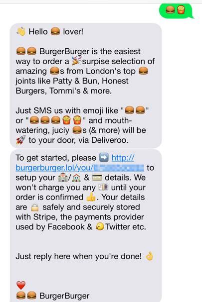 BurgerBurger: how to order a burger with a single emoji