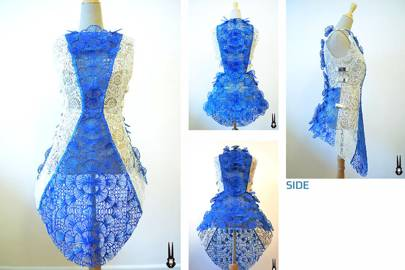 Intricate seashell dress made with 3Doodler pen