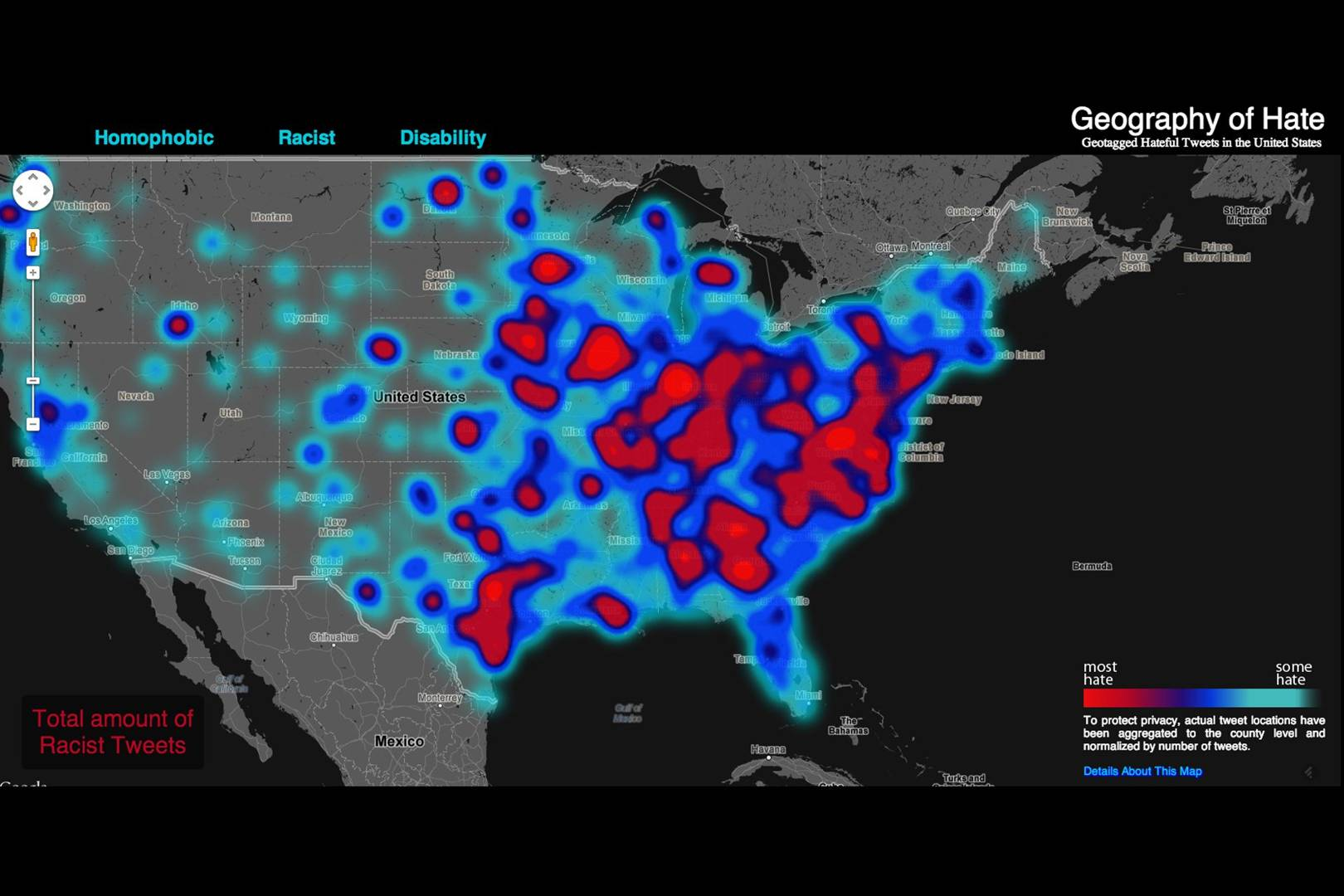 Hate Map Plots Homophobia And Racism Across The US WIRED UK - Racism map in the us