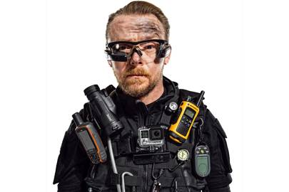 WIRED challenged Simon Pegg to assemble his ultimate action survival kit. Mission: accomplished