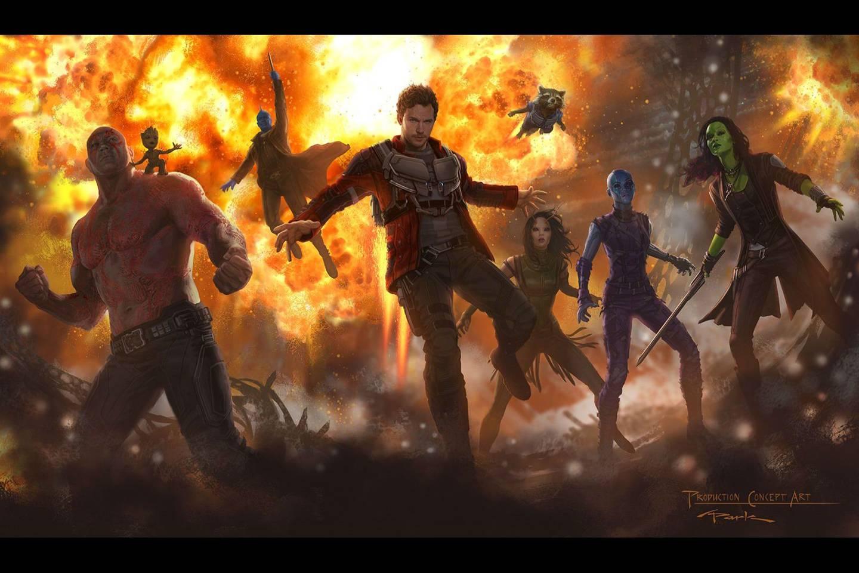 آرت بوک نگهبانان کهکشان 2  کتاب Guardians of the Galaxy