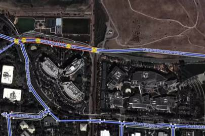 Operators can highlight a road (top left) and drag it into alignment with satellite imagery