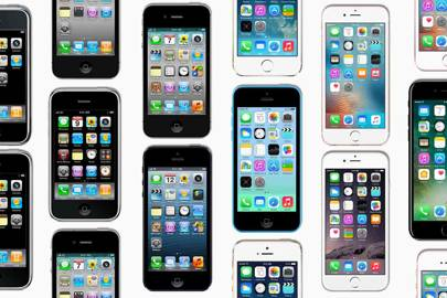 Apple iPhones through the ages