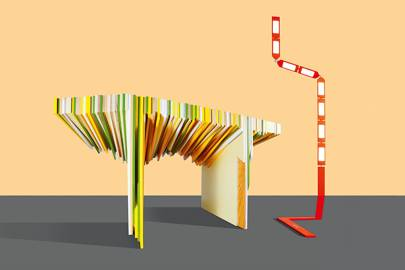 Leftover Table by Rabih Hage and Lamped by Irena Kilibarda
