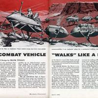Combat vehicle 'walks' like a man -- Mechanix Illustrated, 1962