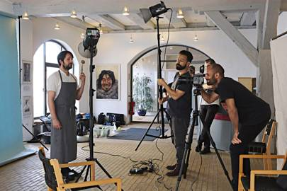 Noma's René Redzepi being photograpged by AORTA