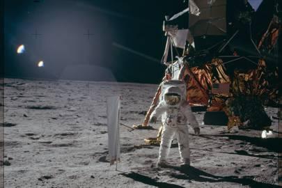 AS11-40-5873 Apollo 11 Hasselblad image from film magazine 40S - EVA