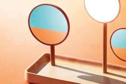 Blossom table mirror