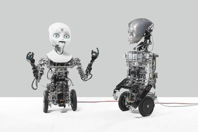 Nexi (in the Science Museum's exhibition) and fellow robot Maxi