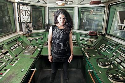 Alexandra Cárdenas on the MS Stubnitz, Canary Wharf, March 2013