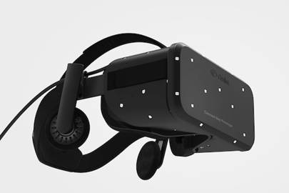 A render of Oculus' new Crescent Bay prototype