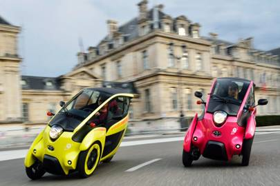 Toyota's three-wheeled electric ride tested