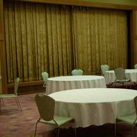 Empty hotel dining room, Miyajima