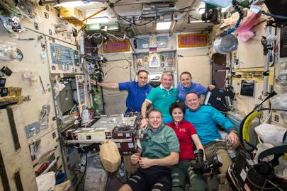 Onboard the ISS