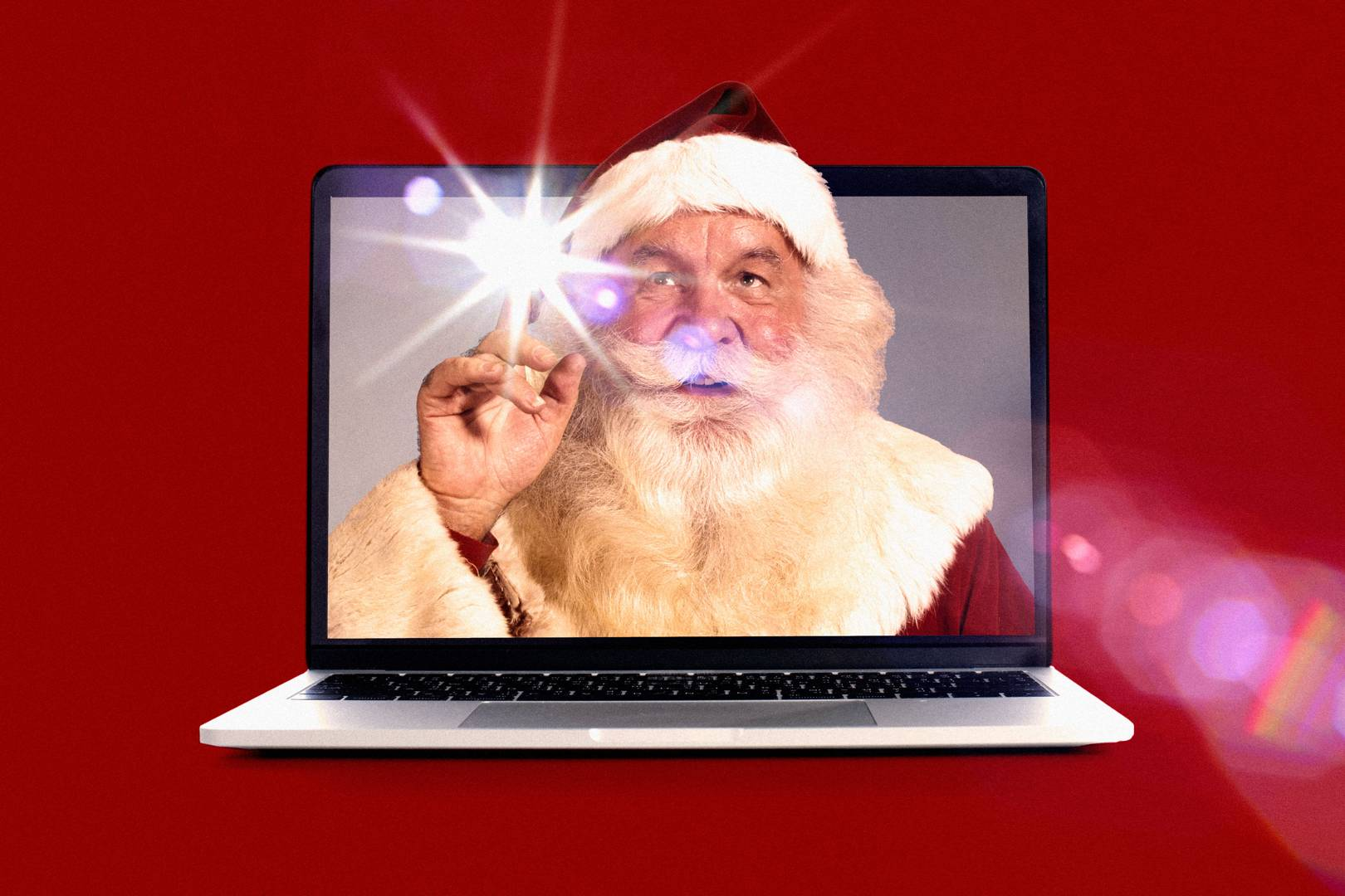 Zooming through the snow: Santas are adjusting to Christmas online