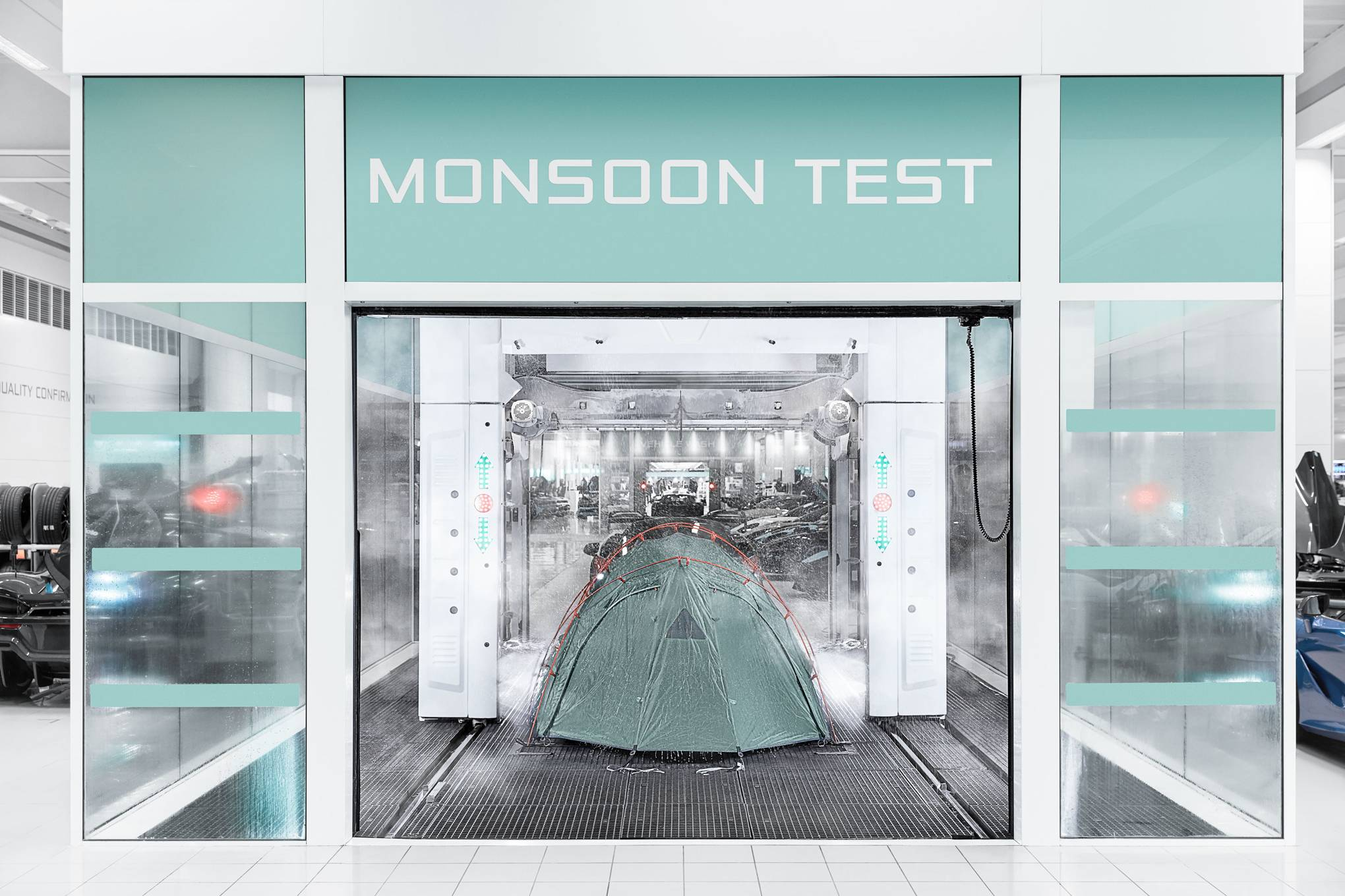We test the best festival tents in McLaren's monsoon chamber