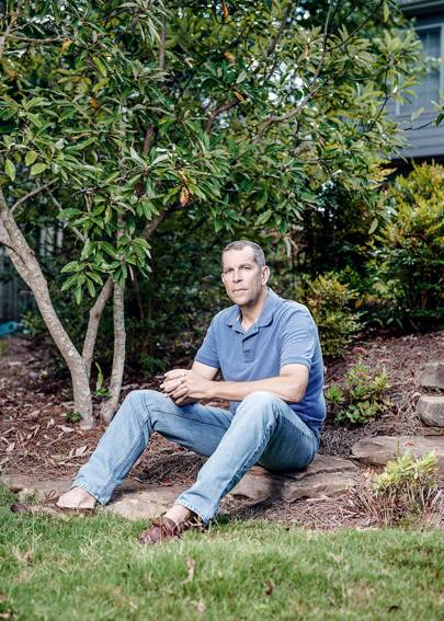 Marcus Krause in the garden of his Atlanta home, 2016