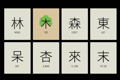 "Characters similar to ""tree"""