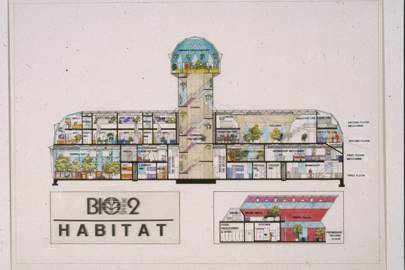 A cross section of the Human Habitat, part of the Biosphere 2 project