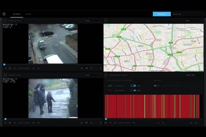 Multiple camera feeds can be analysed. In this footage from the London riots the footage has been checked for movement, allowing officers to skip parts of the video when nothing is happening