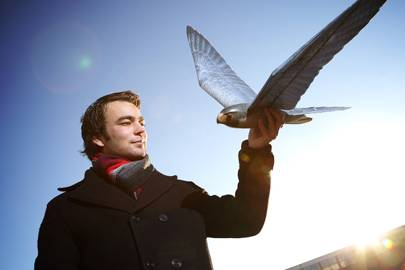Founder Nico Nijenhuis with a robird