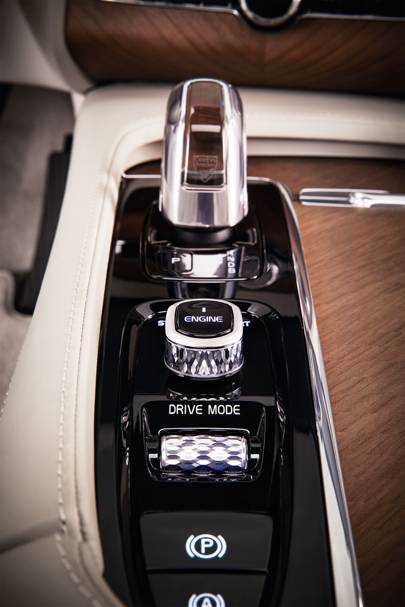 Details such as a crystal gearstick ensure this is Volvo's most expensive model to date