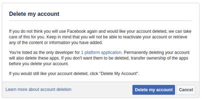 How to delete or deactivate a facebook account permanently wired uk permanently delete your facebook account ccuart Choice Image