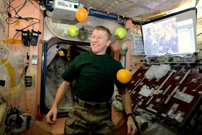 Tim Peake: fresh fruit