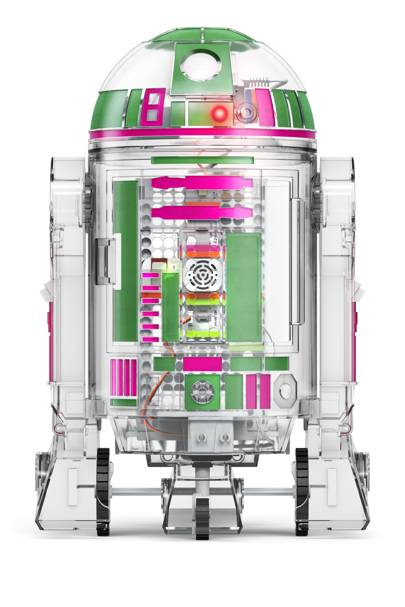 The kit comes with extra parts, instructions and sticker sets to customise your very own R2 Droid Unit