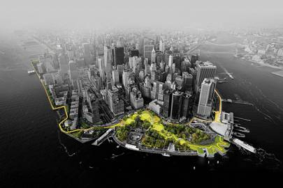 """The Dryline, New York. The Big U - better known as """"The Dryline"""" - is BIG's response to an open call from Rebuild by Design, a $1 billion federal initiative to repair damage to New York in the wake of hurricane  Sandy"""
