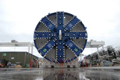 Tunnel digger for London's new Crossrail is ready to roll