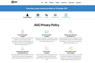 "AVG said its new privacy policy was more intended to be more ""transparent"". A spokesperson for the company confirmed users would have the choice to opt-out should it start selling anonymised search and browser history data to advertisers"