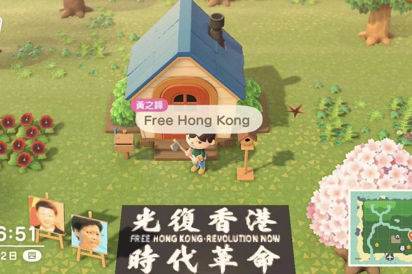 Hong Kong activists are protesting in Animal Crossing ...
