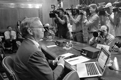Eric Schmidt, former Google CEO, at the 2011 antitrust hearings in Washington
