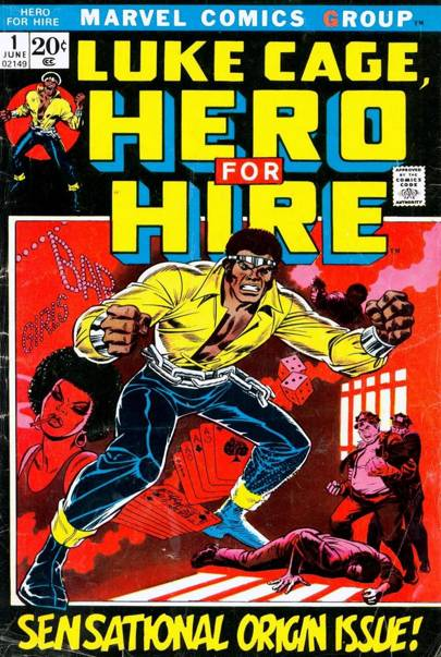 Luke was the first black superhero to headline his own comic, first appearing in 1972
