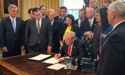 Trump signs a bill