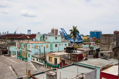 Havana residents use Ethernet cables and antennas to connect to an ad hoc Cuba-only intranet