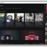 New Spotify web player design