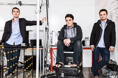 Left-right: Oculus VP of product Nate Mitchell, founder Palmer Luckey and CEO Brendan Iribe
