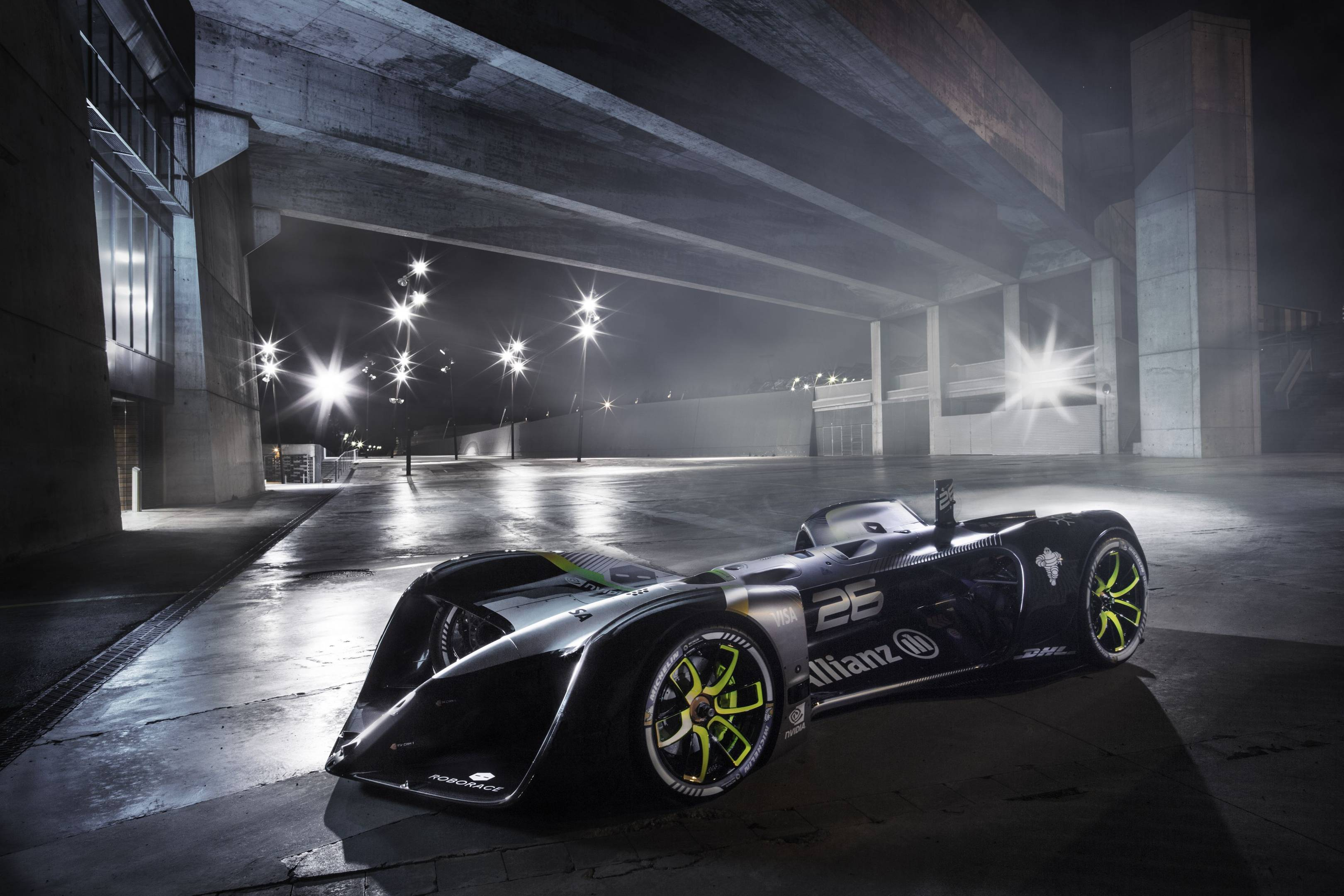 roborace robocar is the world u0027s first electric driverless racing